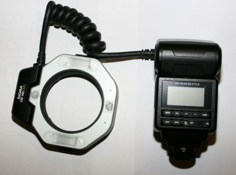 Ring flash used for macro photography