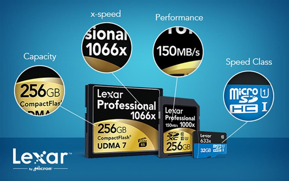 Lexar Professional 1066X memory card with X ratings