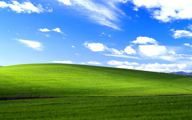 windows wallpaper Bliss shot by Charles O'Rear