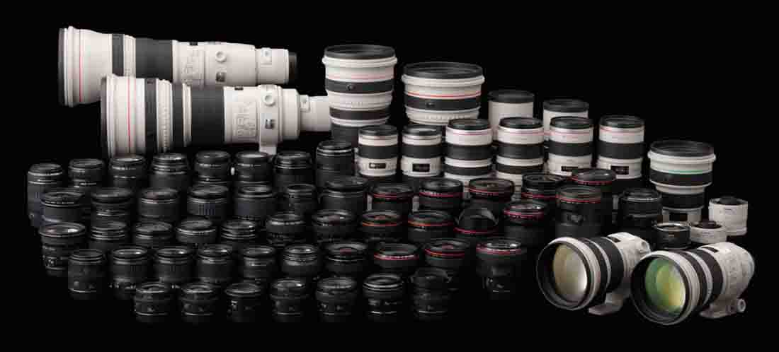 Canon EOS EF EF-S Full Complete Lens Line Up All Compatible with Dual Pixel Autofocus DPAF technology