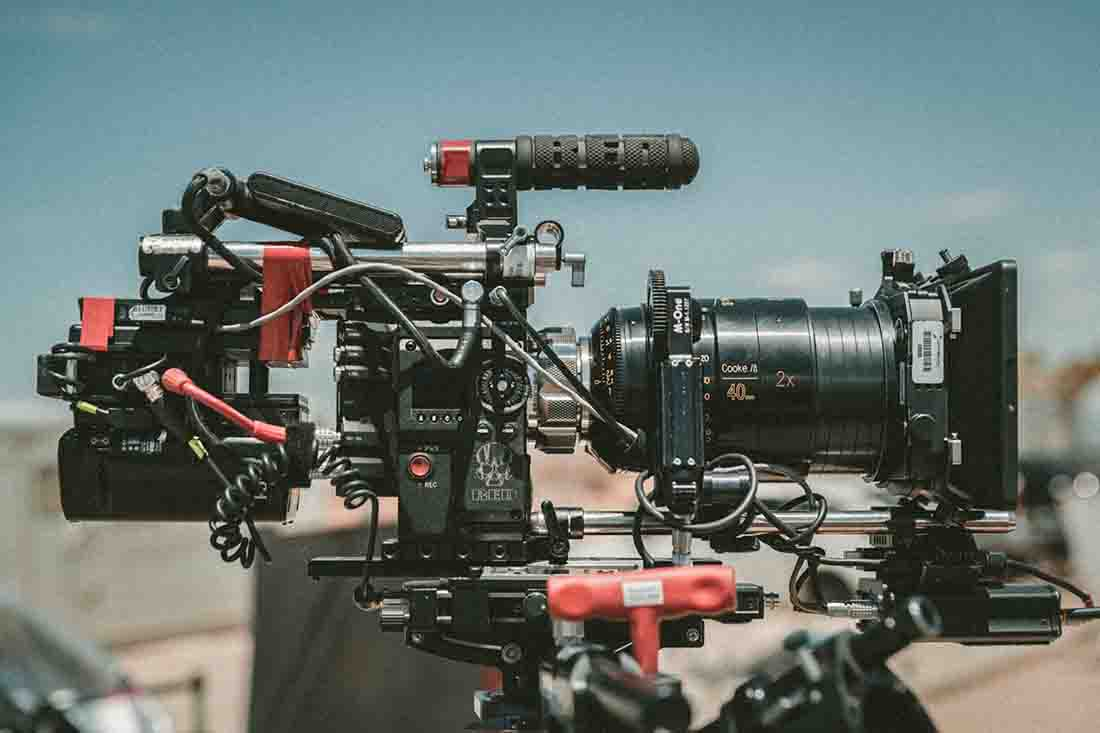 Red Dragon camera with a long lens and advanced autofocusing systems installed