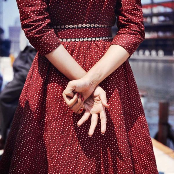One of the rare color image taken by Vivian Maier