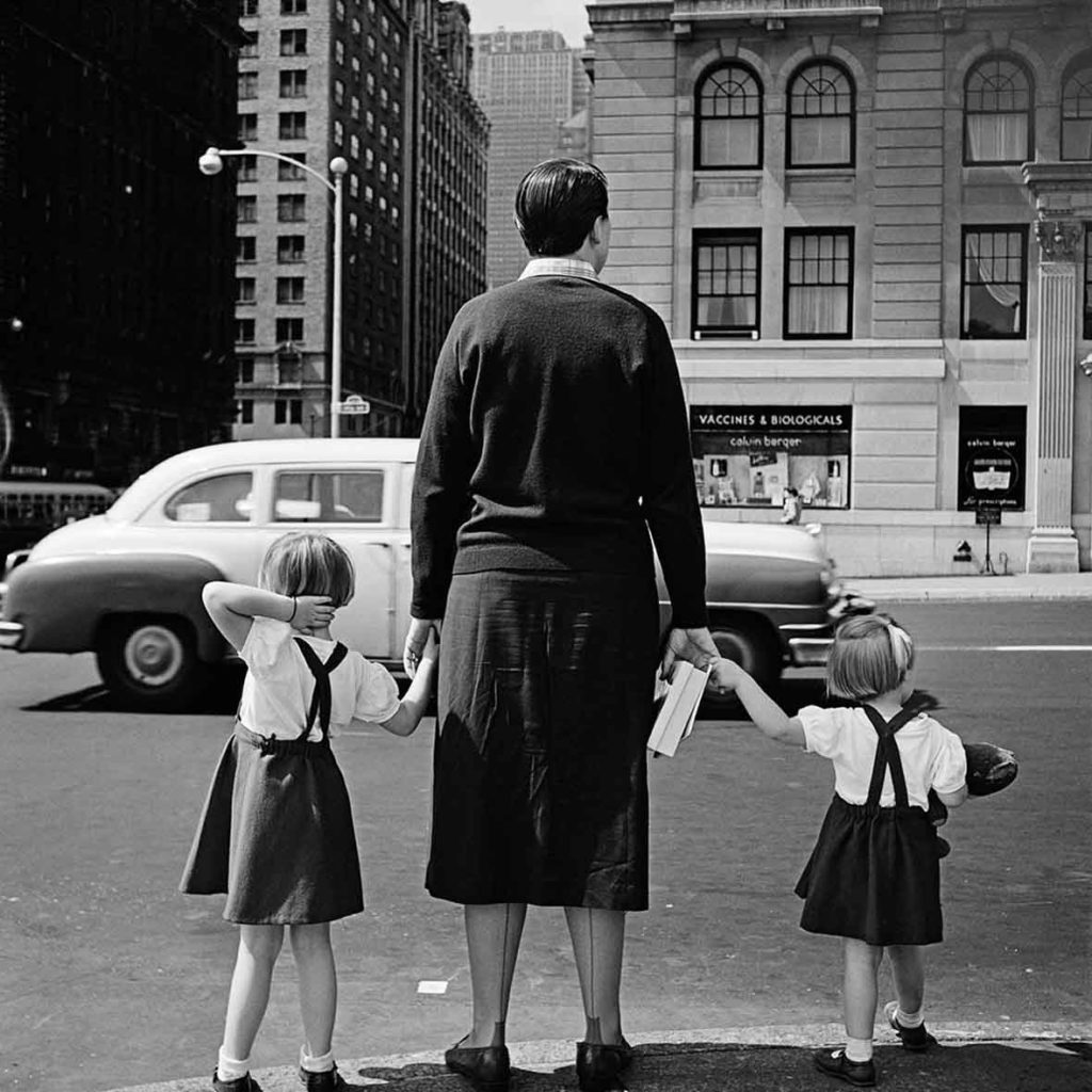 Vivian working as a nanny.1954, New York, NY