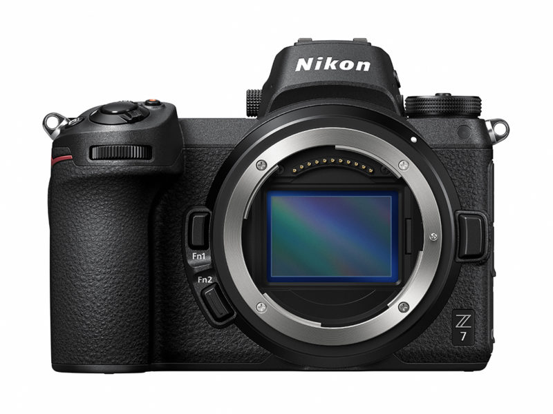 Nikon Z7 with a new Z mount front side image