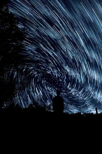 star trail vortex pattern trails