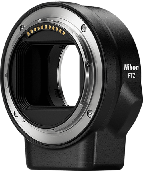 Nikon's native mount FTZ adapter
