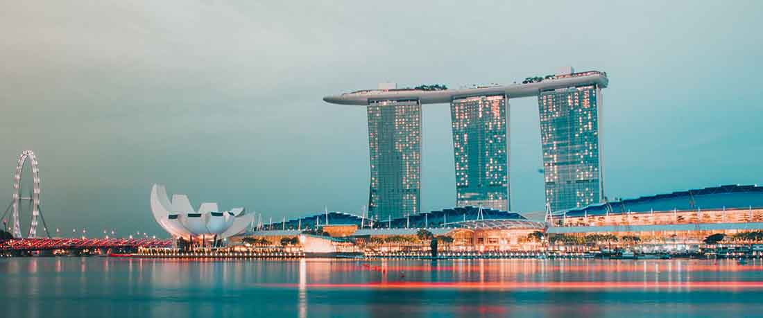 daytime long shutter speed image of an urban landscape
