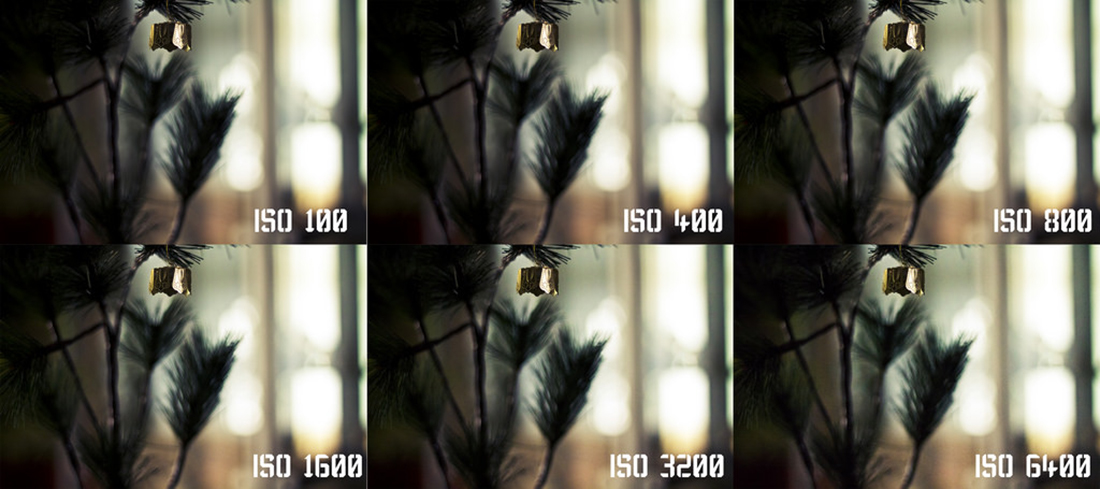 Digital noise produced at various ISO values on a Canon 60D