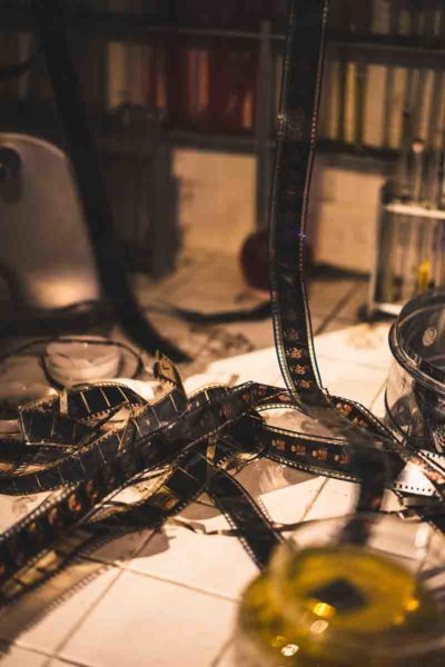 retro looking image of films strips lying unattended