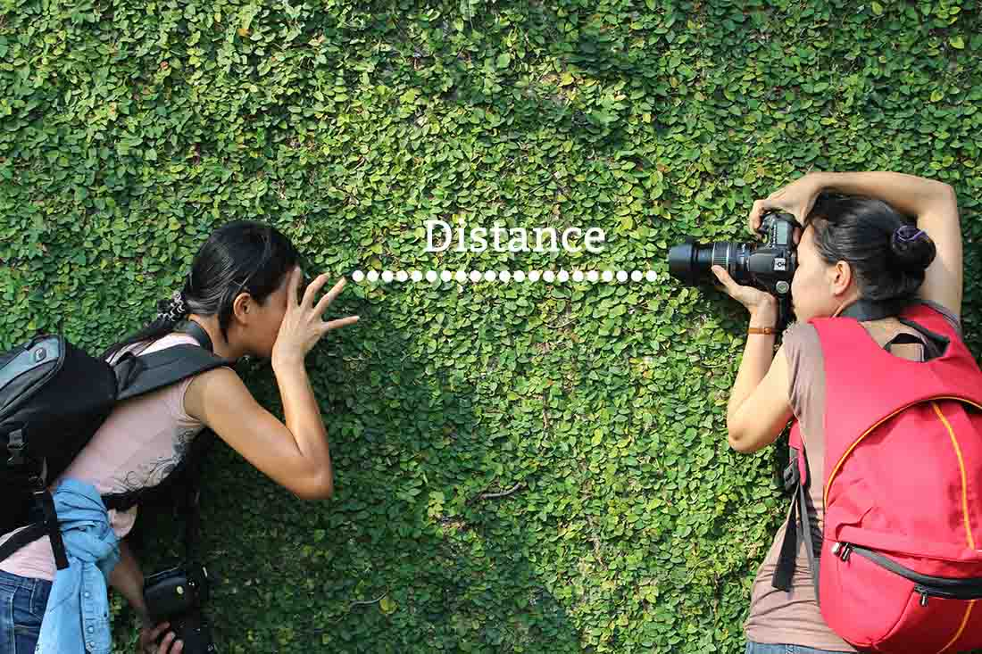 Focus is dependent on the distance between the photographer and the subject