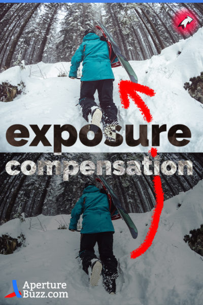 Exposure Compensation used during shooting an image with white snow in it