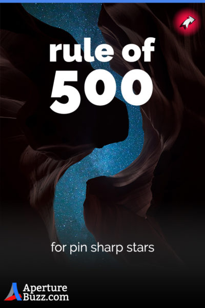 Rule of 500 for pin sharp images of stars
