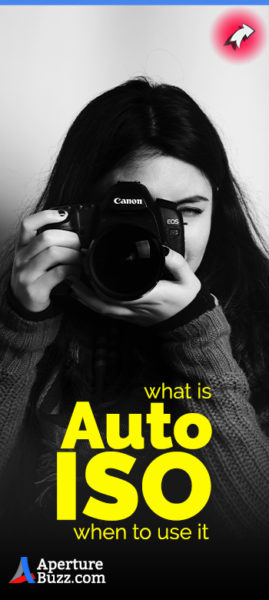 woman holding a camera explaining the benefits of Auto ISO feature in digital camera