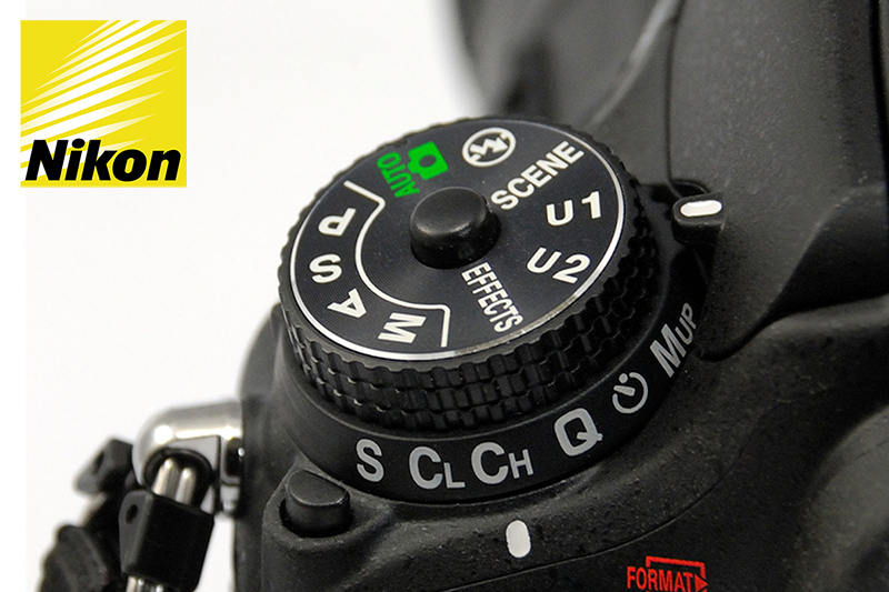 Nikon D7200 DSLR camera with the Custom Settings U1, U2 function on the mode dial