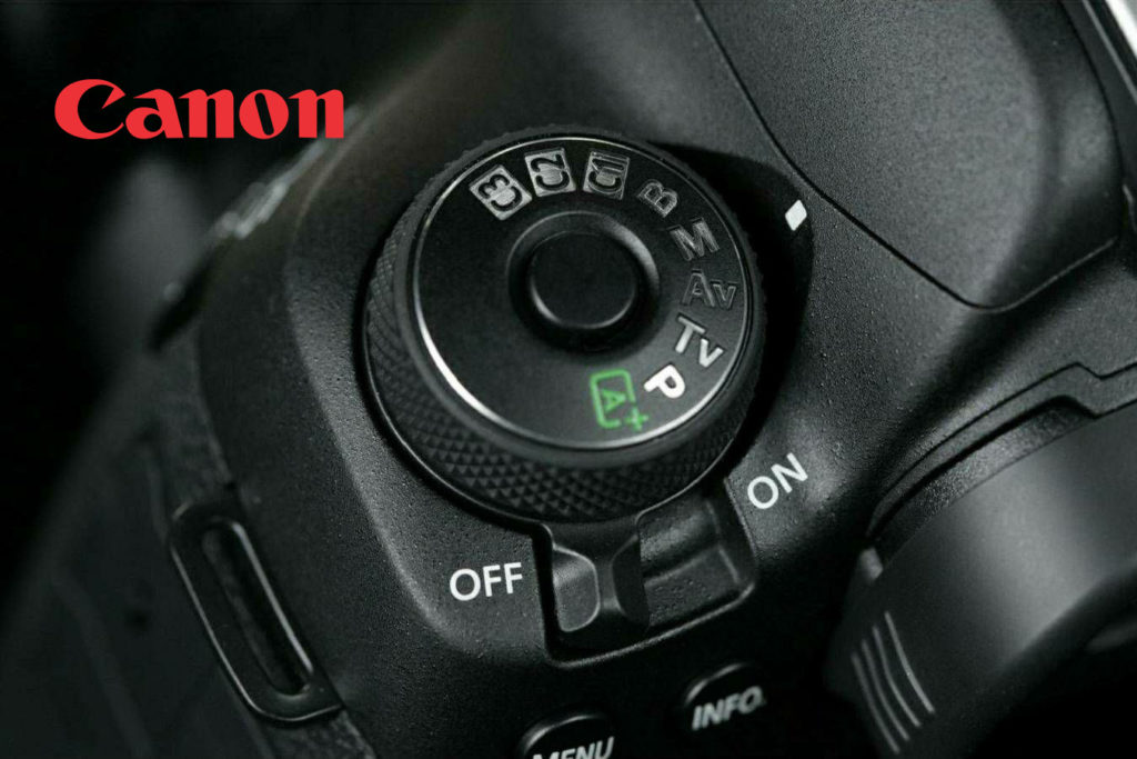 Canon Camera 5D Mark 4 DSLR With the mode dial which has the custom settings C1, C2, C3 modes