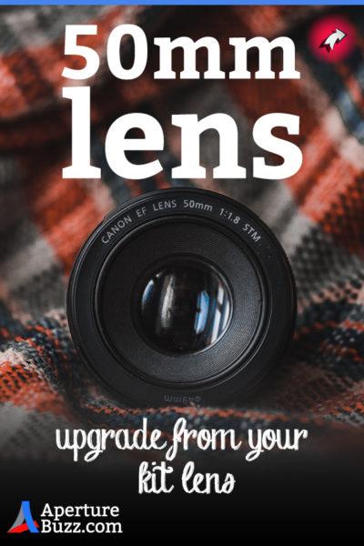 aperturebuzz blog pinned image of 50mm lens
