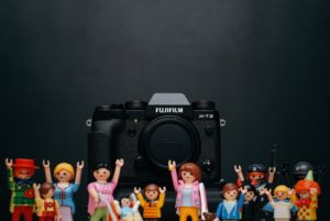 Fujifilm Camera with some lego figures near it
