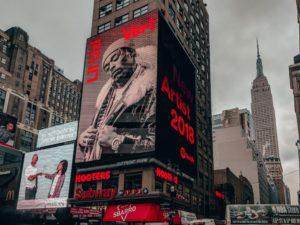 Large billboard in New York