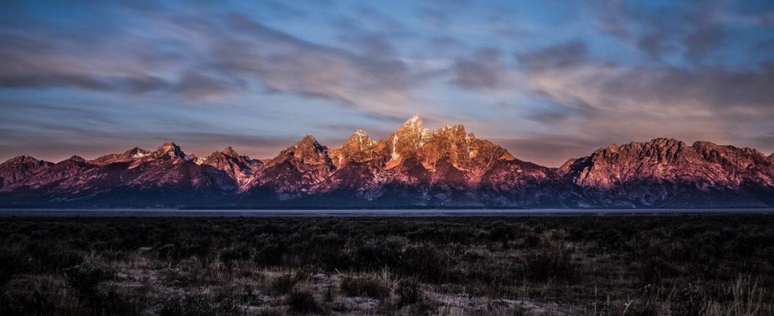 Panoramic image of a Mountain range