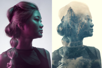 Double Exposure using just one app and 10 minutes before and after