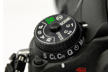 Custom Settings Dial On A Nikon Camera Body