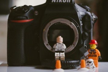 Lego figures with a Nikon D810 DSLR camera body