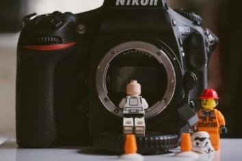 Lego figures with a Nikon D810 DSLR camera body