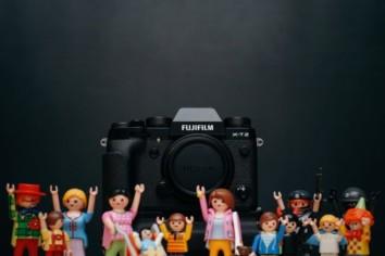 Fujifilm Camera with some lego figures near it
